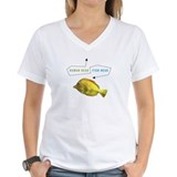 Human Head/Fish Head Yellow Tang W's V-Neck T