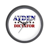 AYDEN for dictator Wall Clock