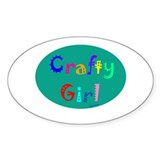 Crafty Girl Oval Decal