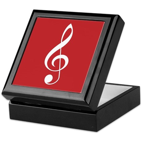Christmas Treble Clef Music Keepsake Box