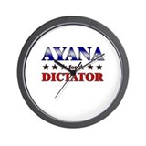 AYANA for dictator Wall Clock