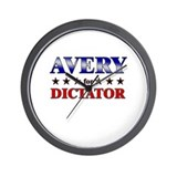 AVERY for dictator Wall Clock