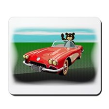 Classic Corvette Bear Mousepad