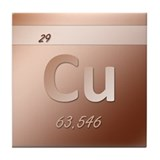 Copper (Cu) Tile Coaster