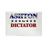 ASHTON for dictator Rectangle Magnet