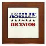 ASHLIE for dictator Framed Tile