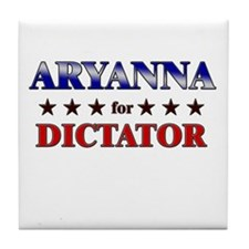 ARYANNA for dictator Tile Coaster
