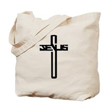 Jesus Cross Tote Bag