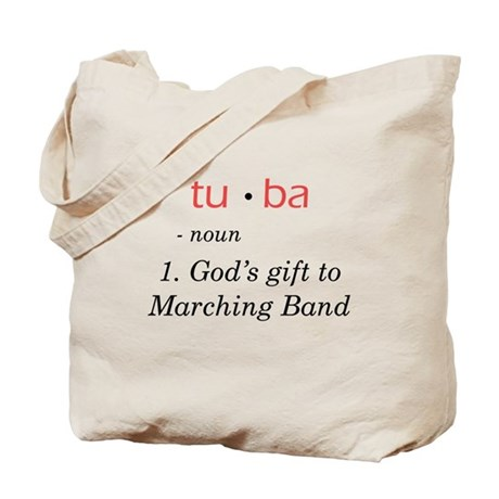 Tuba - God's Gift to Marching Band Tote Bag