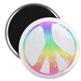 Retro Peace Signs Magnet