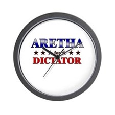 ARETHA for dictator Wall Clock