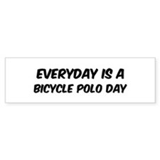 Bicycle Polo everyday Bumper Car Sticker
