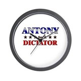 ANTONY for dictator Wall Clock