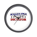 ANGELINA for dictator Wall Clock