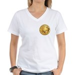 Gold Buffalo Women's V-Neck T-Shirt
