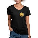 Gold Buffalo Women's V-Neck Dark T-Shirt