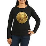 Gold Buffalo Women's Long Sleeve Dark T-Shirt