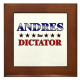 ANDRES for dictator Framed Tile