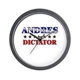 ANDRES for dictator Wall Clock