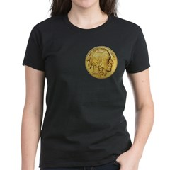 Gold Indian Head Women's Dark T-Shirt