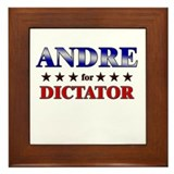 ANDRE for dictator Framed Tile