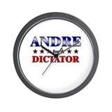 ANDRE for dictator Wall Clock