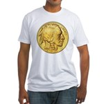 Gold Indian Head Fitted T-Shirt