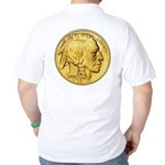 Gold Indian Head Golf Shirt