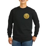 Gold Indian Head Long Sleeve Dark T-Shirt