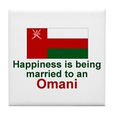 Omani-Happily Married Tile Coaster