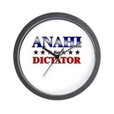 ANAHI for dictator Wall Clock