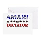 AMARI for dictator Greeting Card