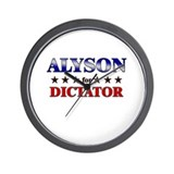 ALYSON for dictator Wall Clock