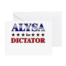 ALYSA for dictator Greeting Card