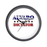 ALVARO for dictator Wall Clock