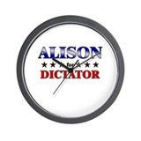 ALISON for dictator Wall Clock