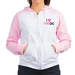 I Love The O C Women's Raglan Hoodie
