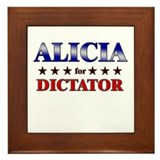 ALICIA for dictator Framed Tile