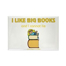 Like Big Books (f) Rectangle Magnet