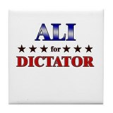 ALI for dictator Tile Coaster
