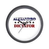 ALEXANDRO for dictator Wall Clock