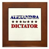 ALEXANDRA for dictator Framed Tile