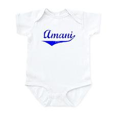 Amani Vintage (Blue) Onesie