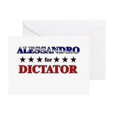 ALESSANDRO for dictator Greeting Card