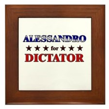 ALESSANDRO for dictator Framed Tile