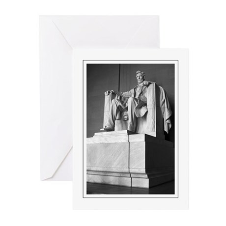 Lincoln Memorial Statue Greeting Cards (Pk of 10)