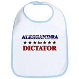 ALESSANDRA for dictator Bib