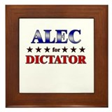 ALEC for dictator Framed Tile