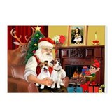 Santa's 2 JRT's Postcards (Package of 8)