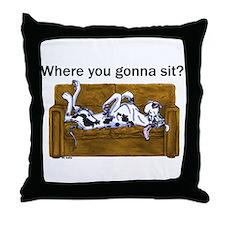 NH Where RU Gonna Sit? Throw Pillow
